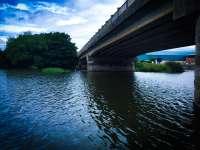 Under the bridge at Toome
