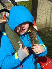 child passenger on Abhainn Cruises