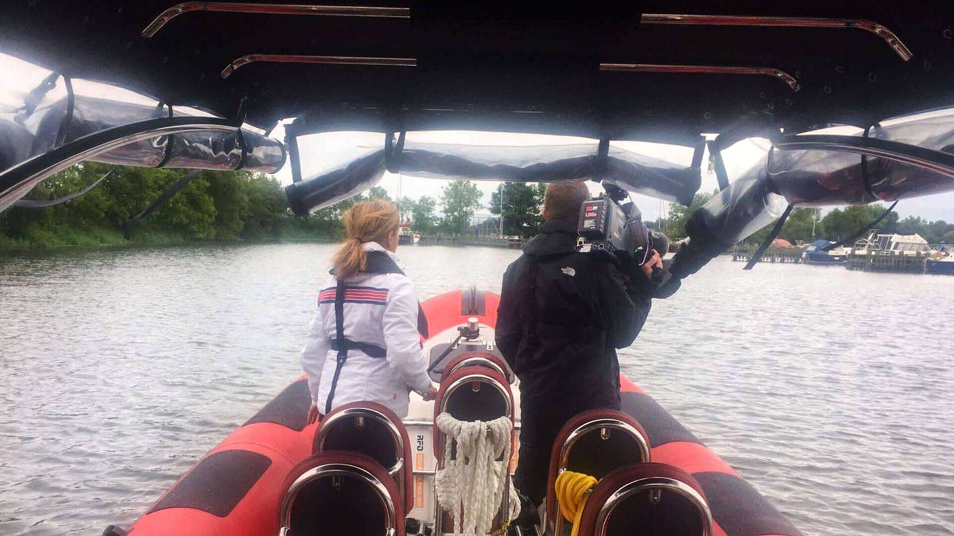 Filming BBC Getaways