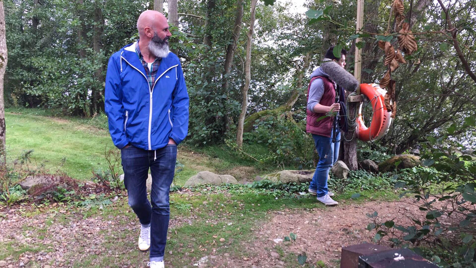 Joe Lindsay and Ben on Ram's Island