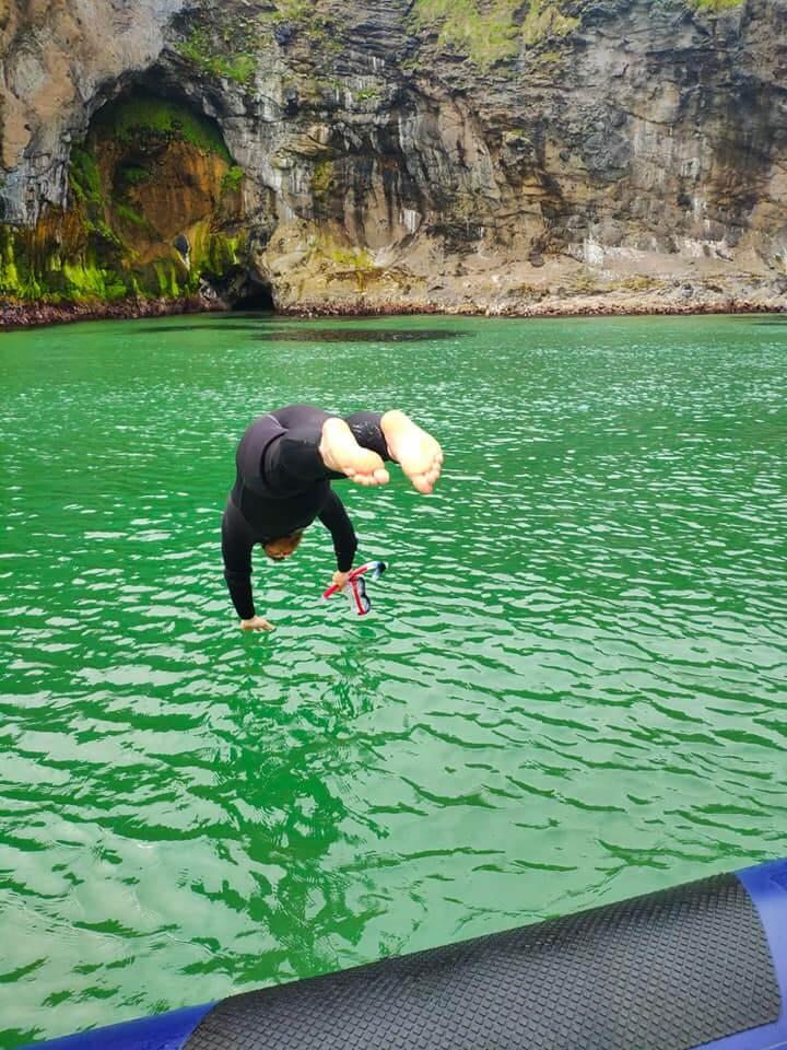 Carrick-a-Rede Sea Safari swim