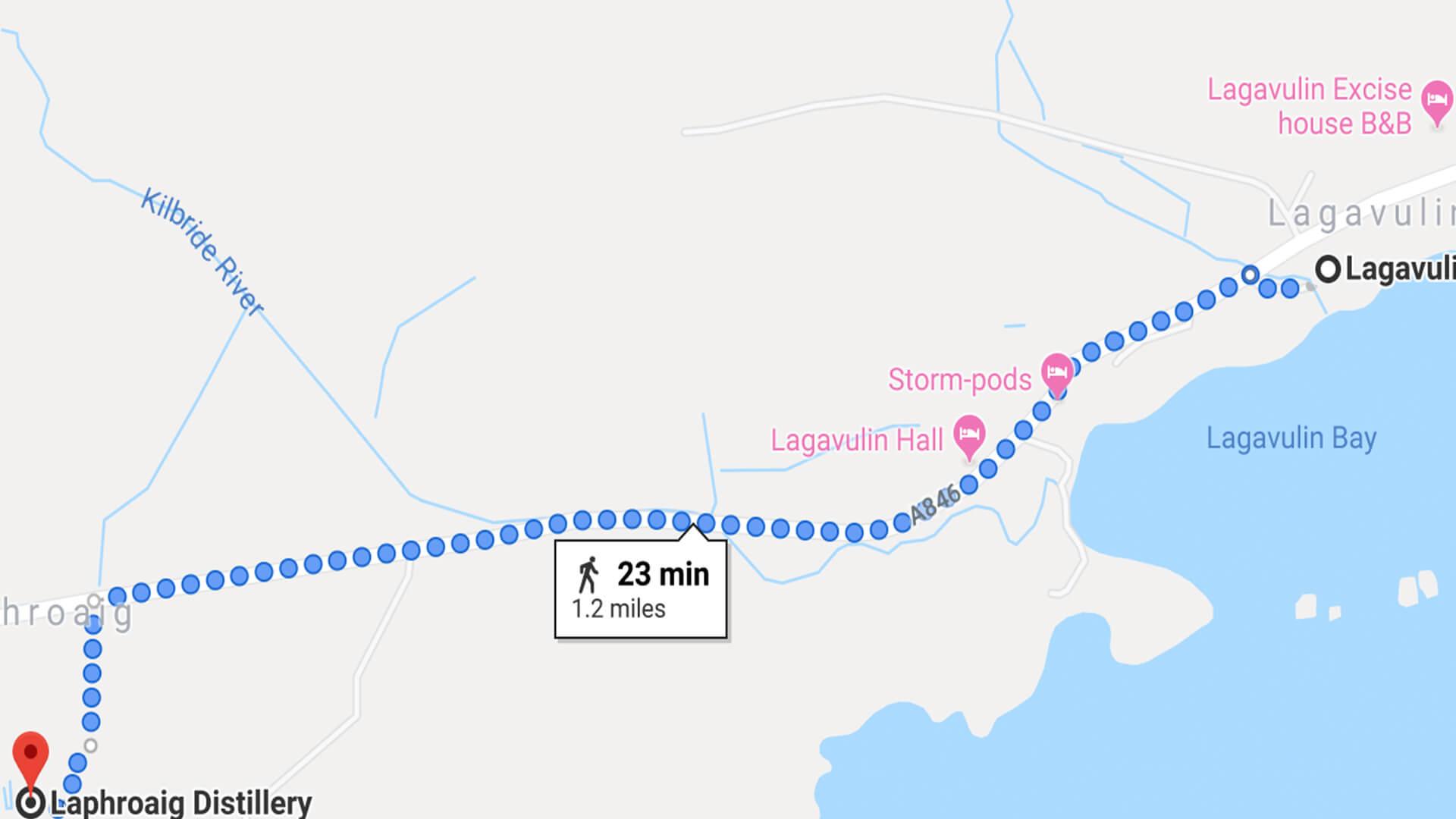 Lagavulin to Laphroaig