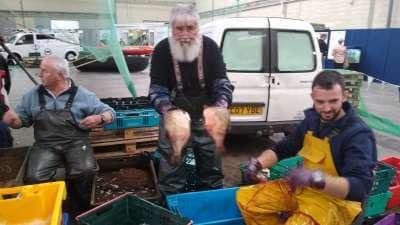 Fishermen at Eel Fishery